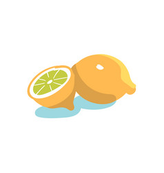 hand drawn lemon vector image