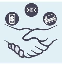 Hand shake design vector