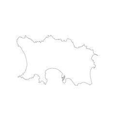 Jersey map outline vector