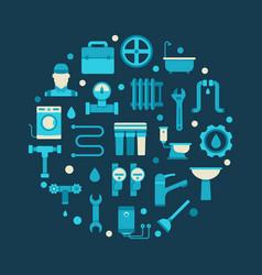 plumbing round vector image