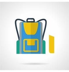 School backpack flat color icon vector
