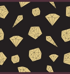 Seamless pattern crystal geometric crystals vector image vector image