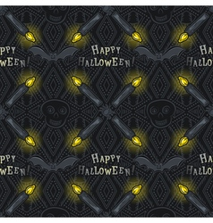 Seamless Pattern with Halloween symbols vector image vector image
