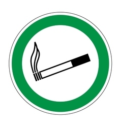 Sign place for smoking 606 vector image vector image
