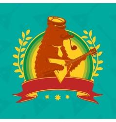 Symbol Bear With Balalaika vector image