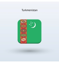 Turkmenistan flag icon vector