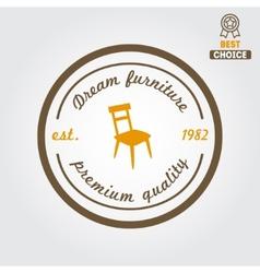 Vintage logo badgeemblem or logotype for vector