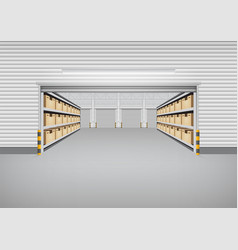 Warehouse building background vector