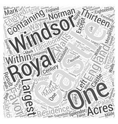 Windsor castle word cloud concept vector