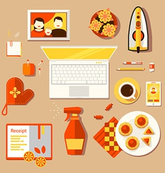workplace of housewife vector image