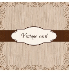 wooden vintage postcard vector image