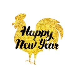Gold new year poster vector