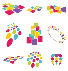 Collection of modern abstract design elements vector