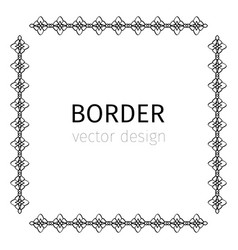 simple square black border vector image