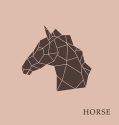 Geometric horse head vector