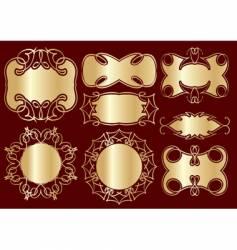golden frames for design vector image