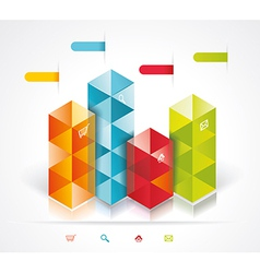 Modern Design template isometric style vector image
