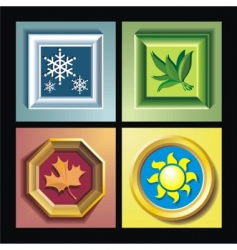 framed seasons vector image
