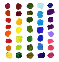 Colorful brush stain vector