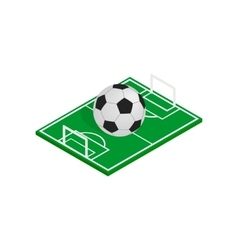 Ball on the soccer field icon isometric 3d style vector