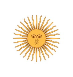 Sun of May vector image