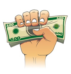 Money in people hand vector