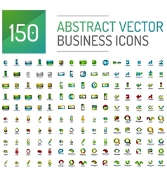 Abstract business logo mega collection vector image