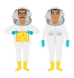 beekeeper man characters vector image