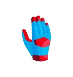 Blue glove of the goalkeeper icon cartoon style vector image