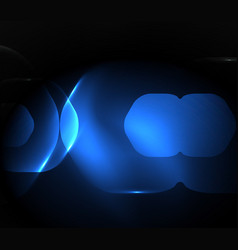 blurred transparent hexagons on dark digital vector image