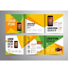 brochure design template vector image vector image