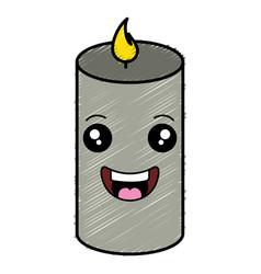 candle spa kawaii character vector image