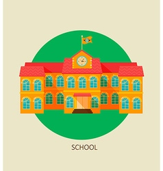 Classical school building icon vector image vector image