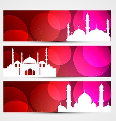 colorful eid headers vector image