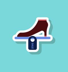 Fashion patch sale sticker shoes discounts vector