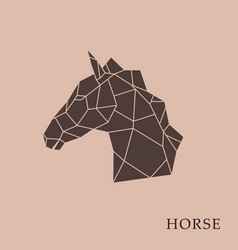 geometric horse head vector image