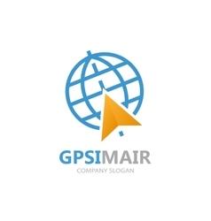 Gps logo point on map symbol vector