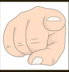 Hand with index finger pointing at the viewer vector