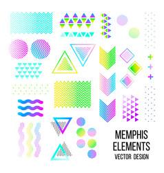 memphis pattern elements vector image