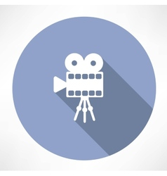 Movie camera vector image