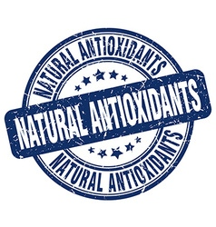 Natural antioxidants blue grunge round vintage vector