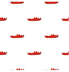 Red turkish shoes pattern seamless vector