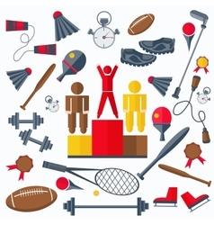 Rewarding athletes sport goods racquet weight vector