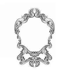 Rococo Mirror frame decor vector image