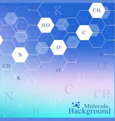Scientific hexagonal chemistry pattern structure vector