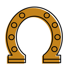 Steel horseshoe symbolizes good luck vector