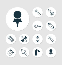 tools icons set collection of attraction vector image vector image