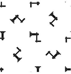 twist tool pattern seamless black vector image vector image