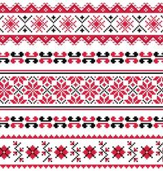 Ukrainian folk emboidery pattern or print vector