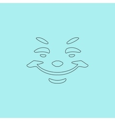 Universal smiling icon freehand drawing vector image